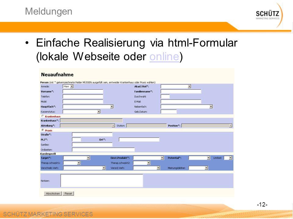 Einfache Realisierung via html-Formular (lokale Webseite oder online)