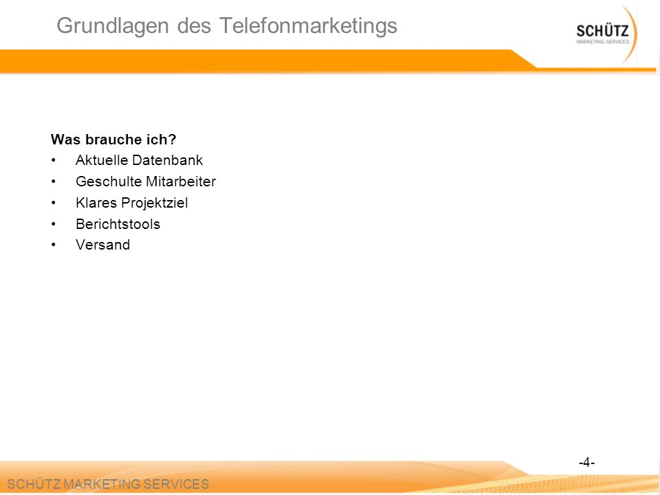 Grundlagen des Telefonmarketings