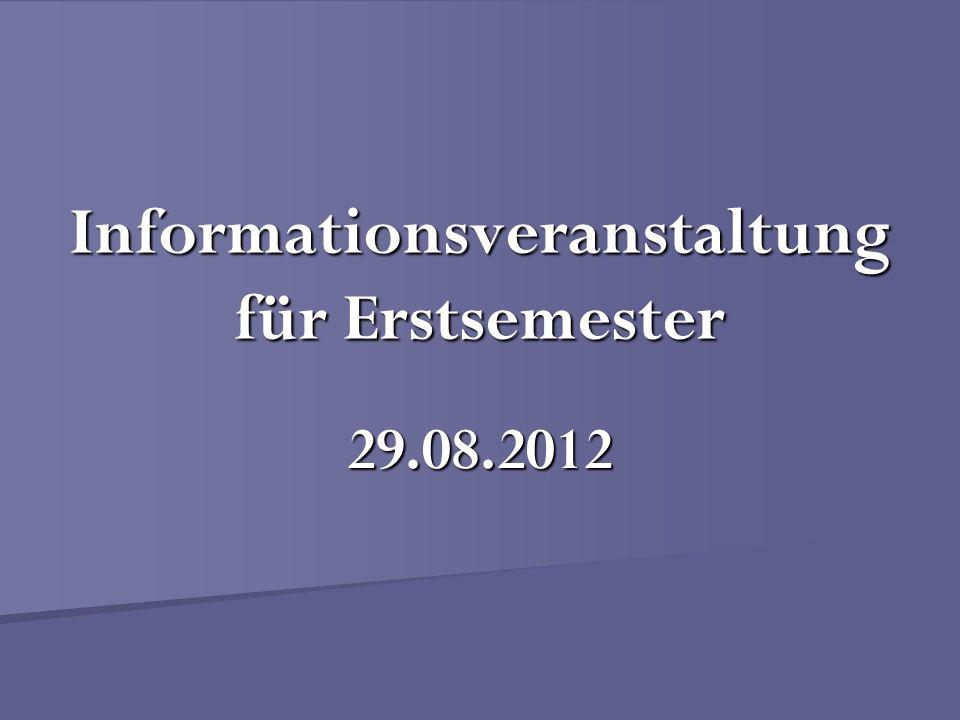 Informationsveranstaltung für Erstsemester