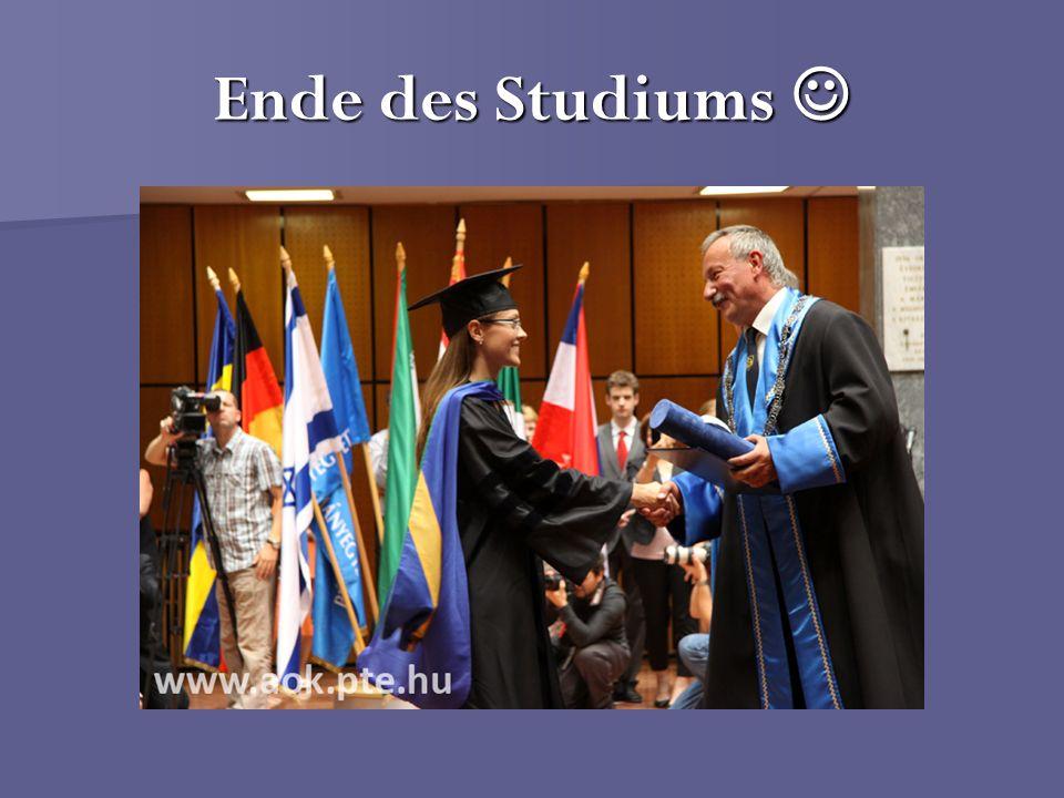 Ende des Studiums 