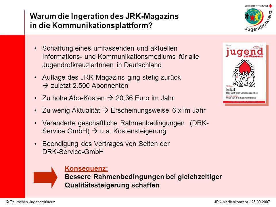 Warum die Ingeration des JRK-Magazins in die Kommunikationsplattform
