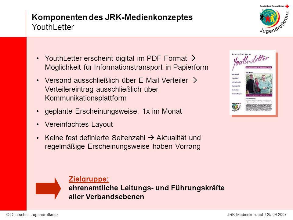 Komponenten des JRK-Medienkonzeptes YouthLetter