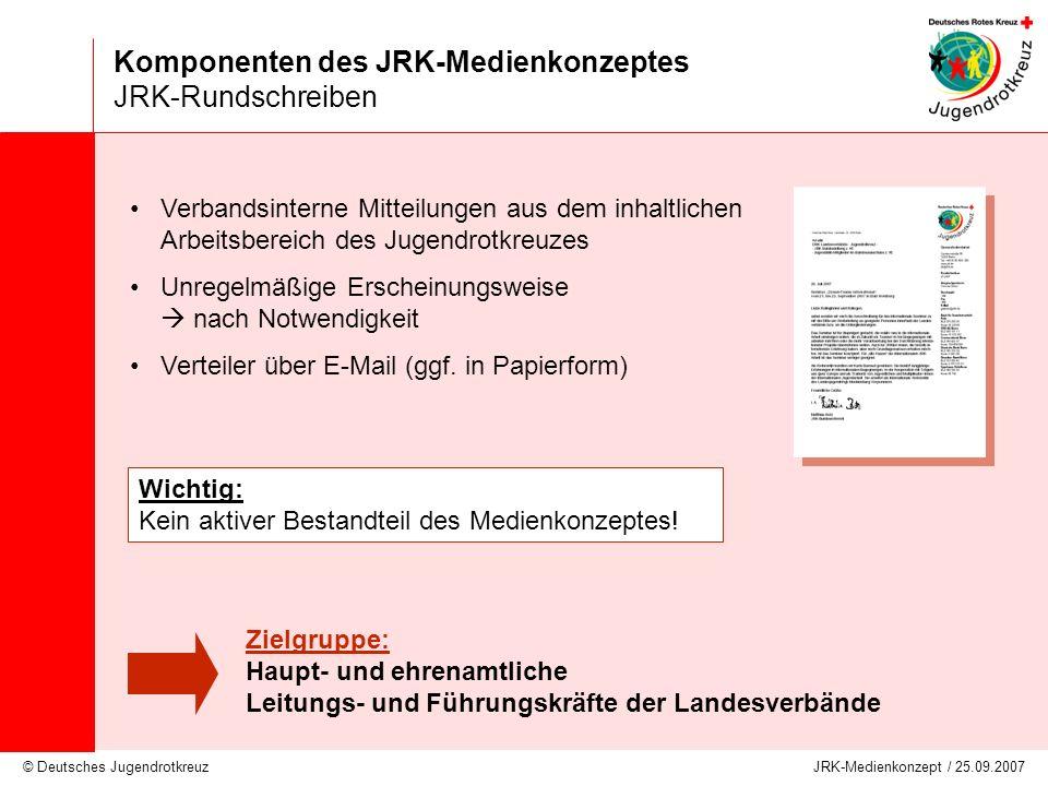 Komponenten des JRK-Medienkonzeptes JRK-Rundschreiben
