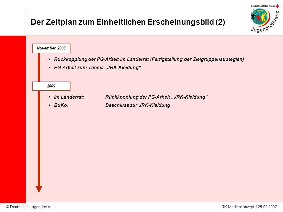 Der Zeitplan zum Einheitlichen Erscheinungsbild (2)