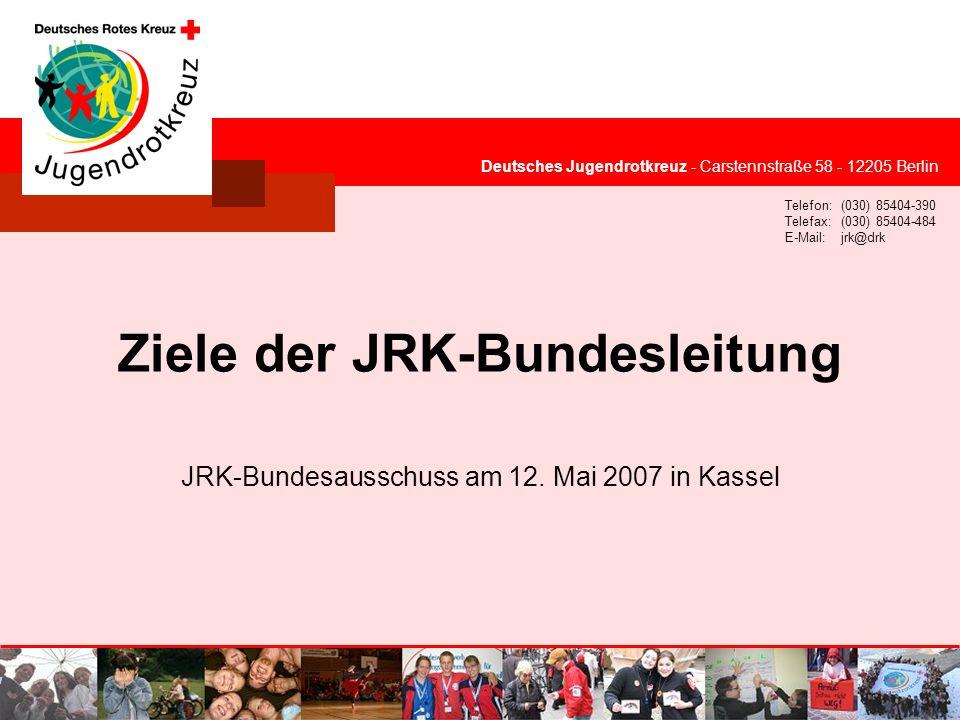Ziele der JRK-Bundesleitung