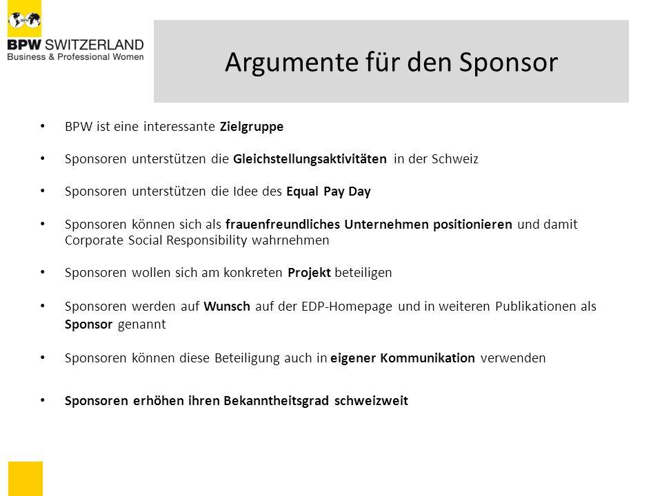 Argumente für den Sponsor