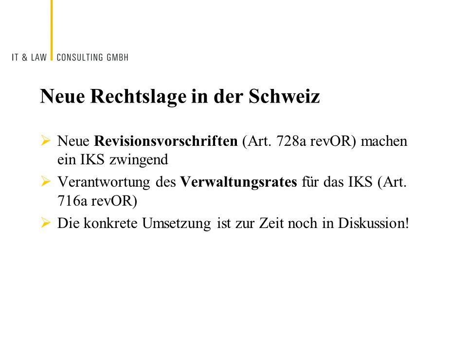 Neue Rechtslage in der Schweiz