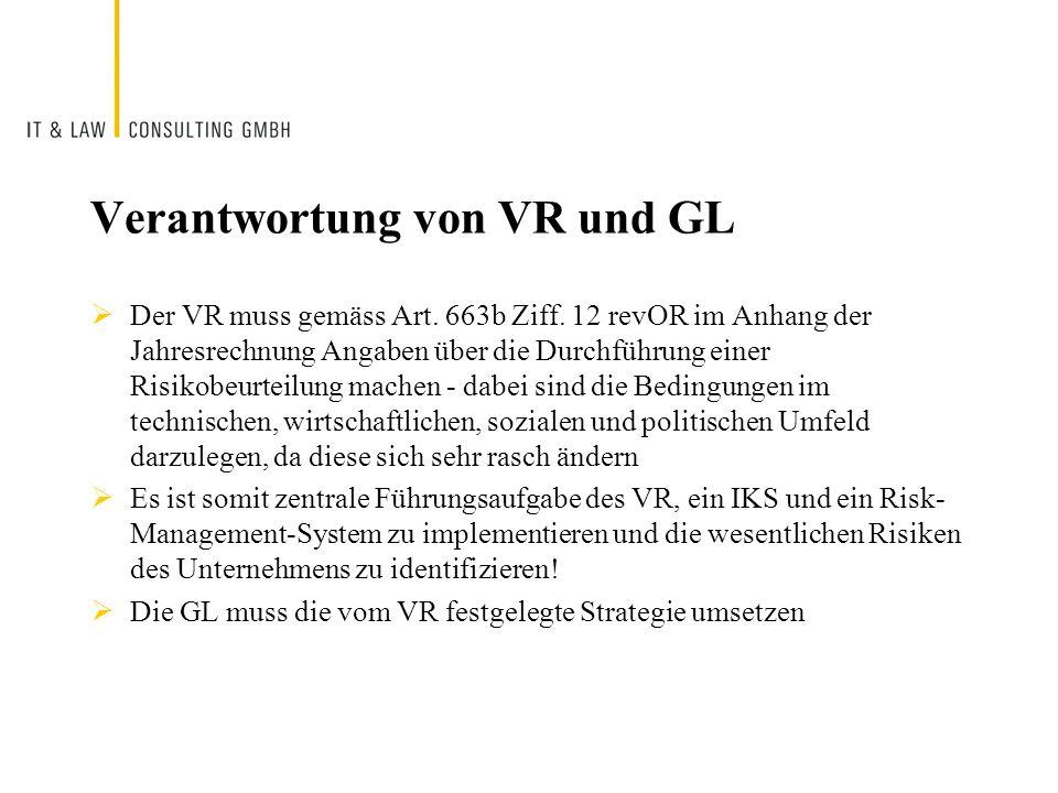 Verantwortung von VR und GL