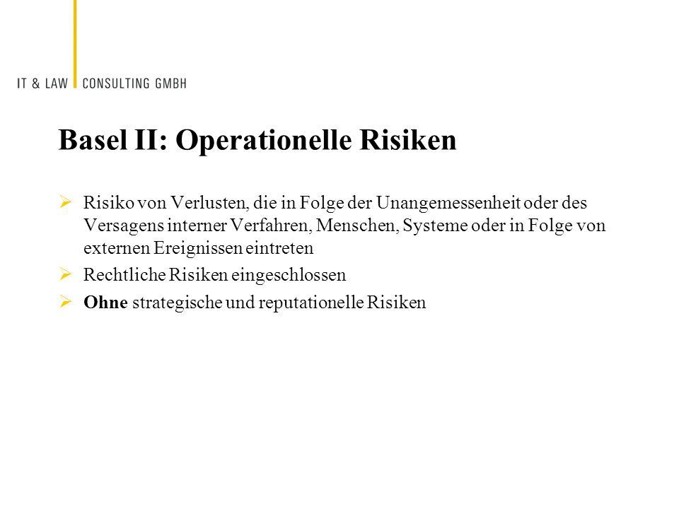 Basel II: Operationelle Risiken