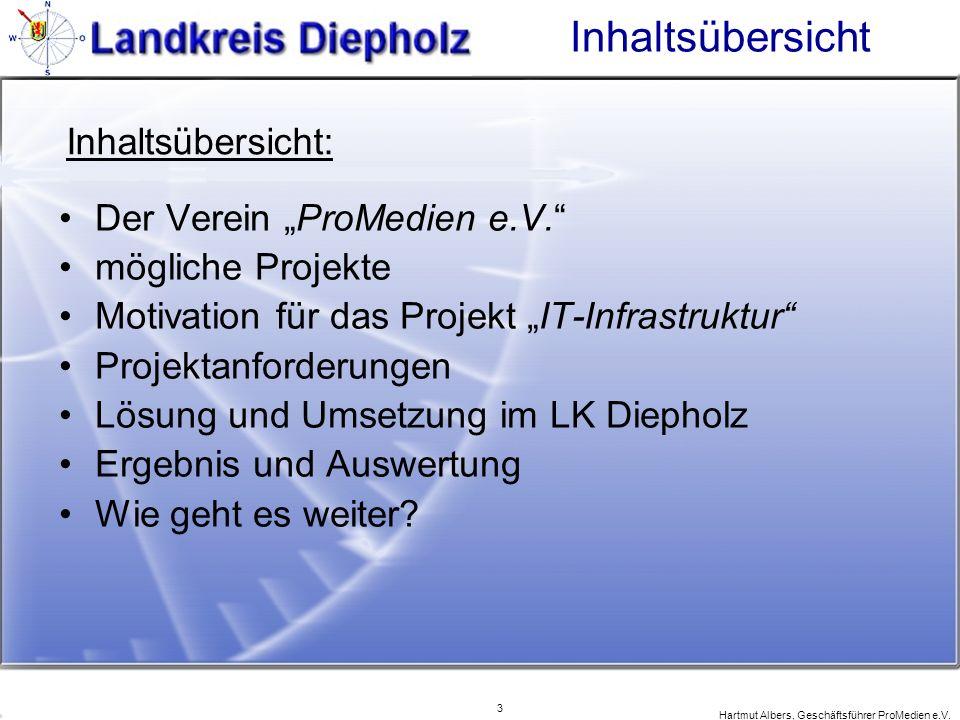 """Inhaltsübersicht Inhaltsübersicht: Der Verein """"ProMedien e.V."""