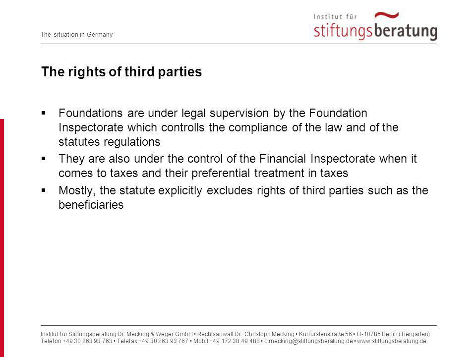 The rights of third parties