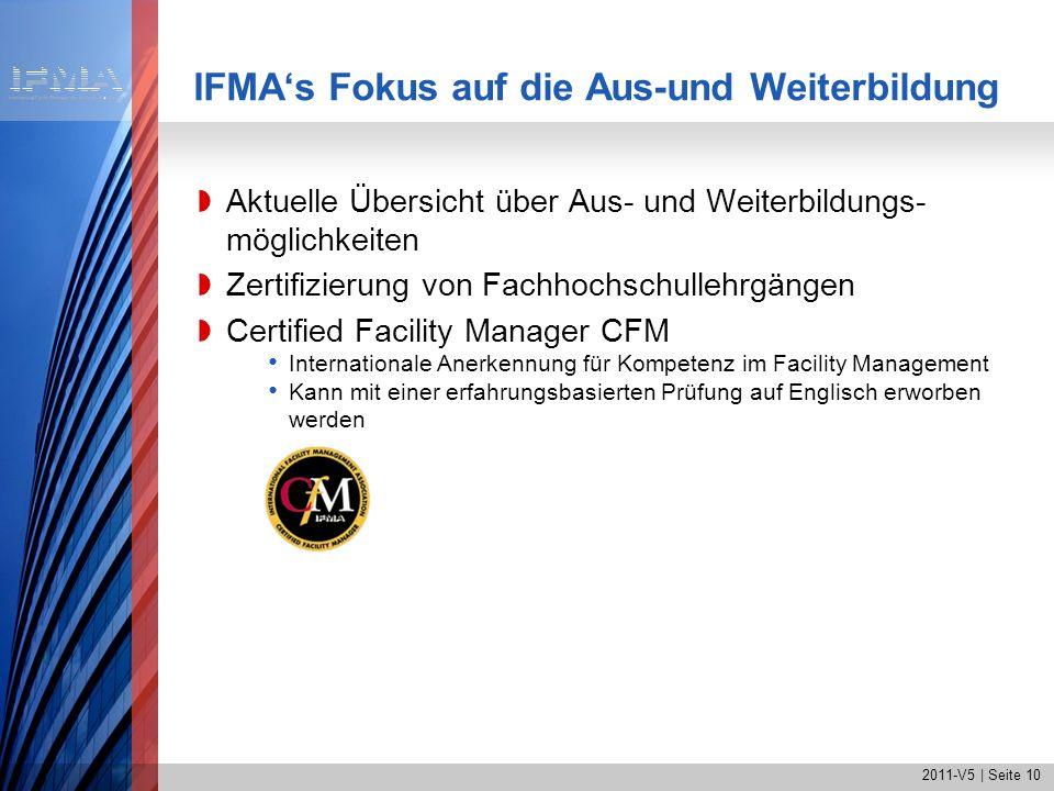IFMA's Fokus auf die Aus-und Weiterbildung