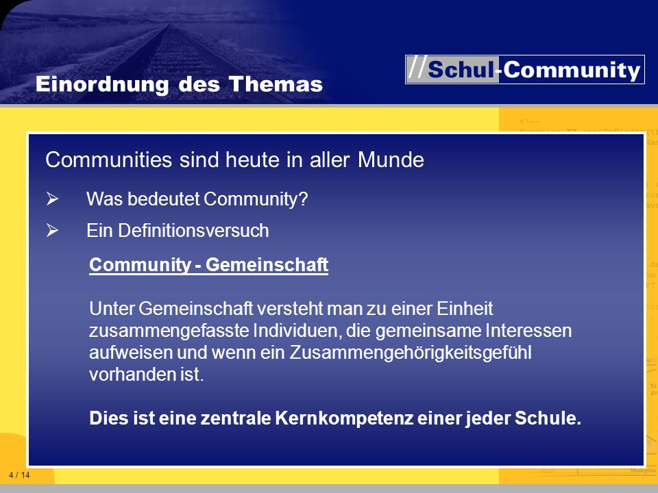 Communities sind heute in aller Munde