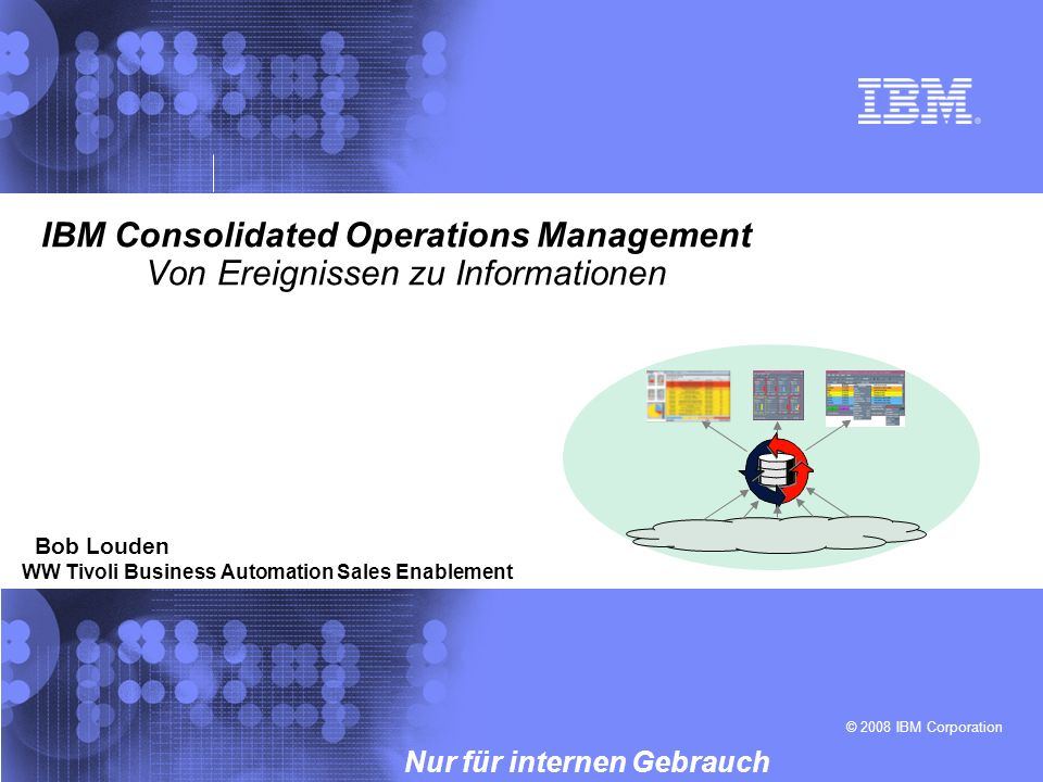 IBM Consolidated Operations Management