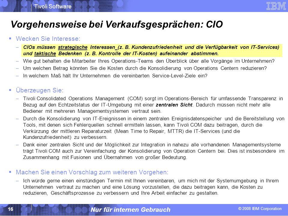 Vorgehensweise bei Verkaufsgesprächen: CIO