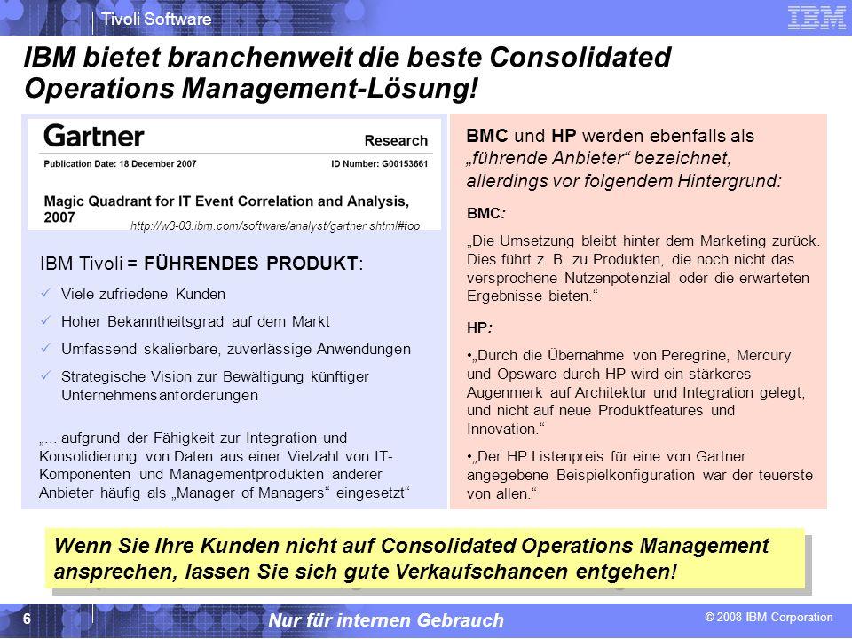 IBM bietet branchenweit die beste Consolidated Operations Management-Lösung!