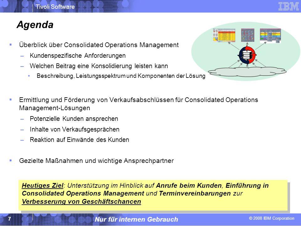 Agenda Überblick über Consolidated Operations Management