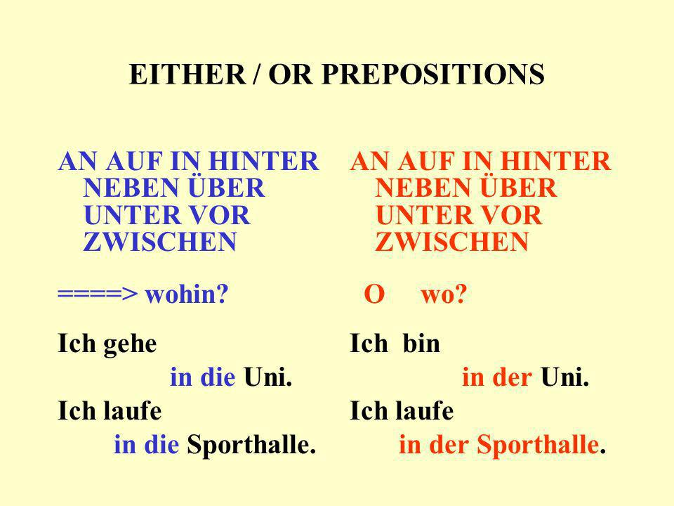 EITHER / OR PREPOSITIONS