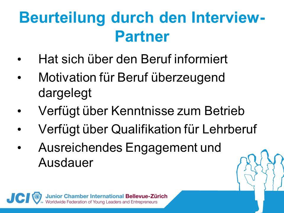 Beurteilung durch den Interview-Partner
