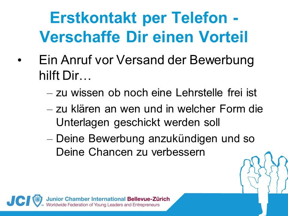 Erstkontakt per Telefon - Verschaffe Dir einen Vorteil