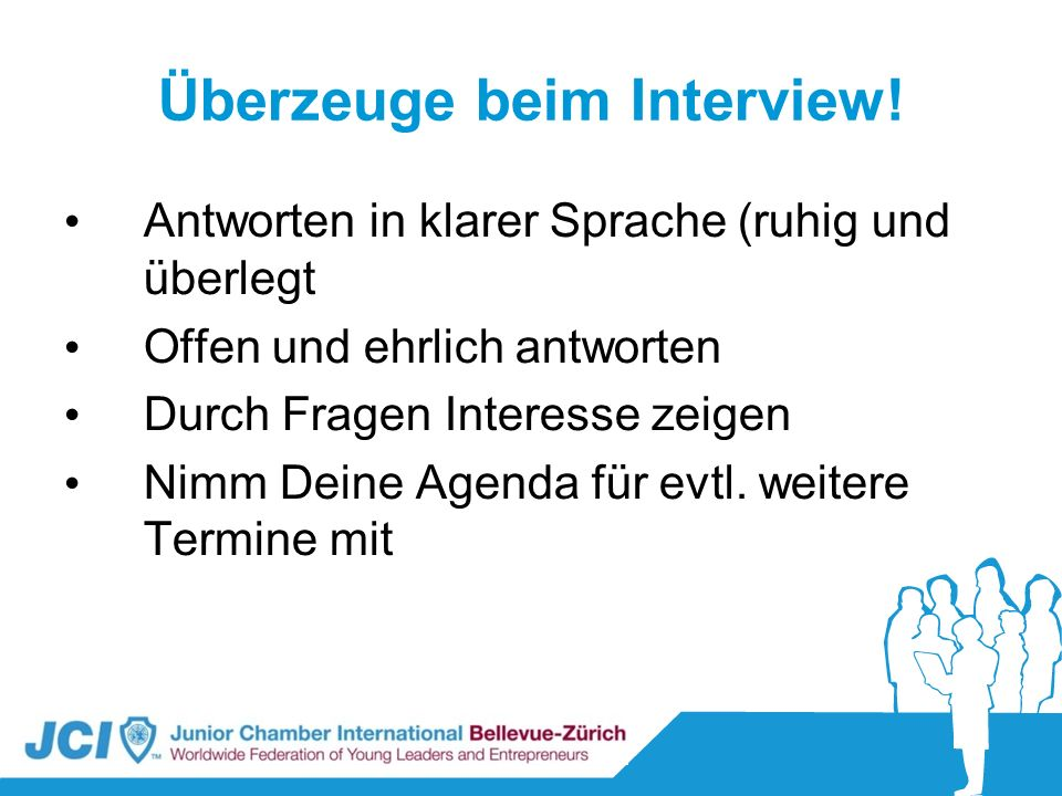 Überzeuge beim Interview!