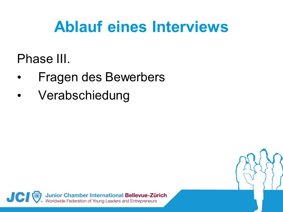 Ablauf eines Interviews