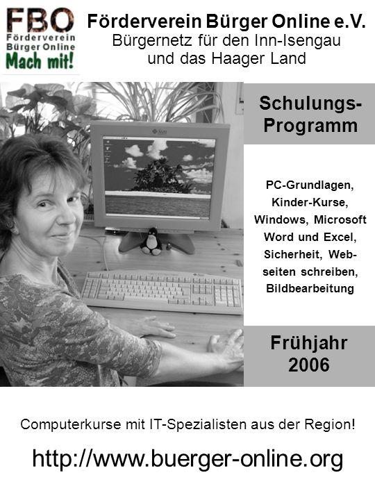 http://www.buerger-online.org Förderverein Bürger Online e.V.