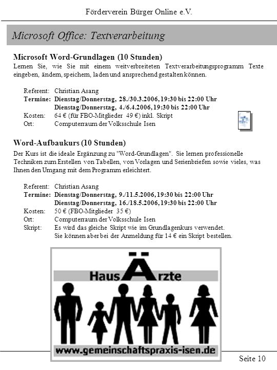 Microsoft Office: Textverarbeitung