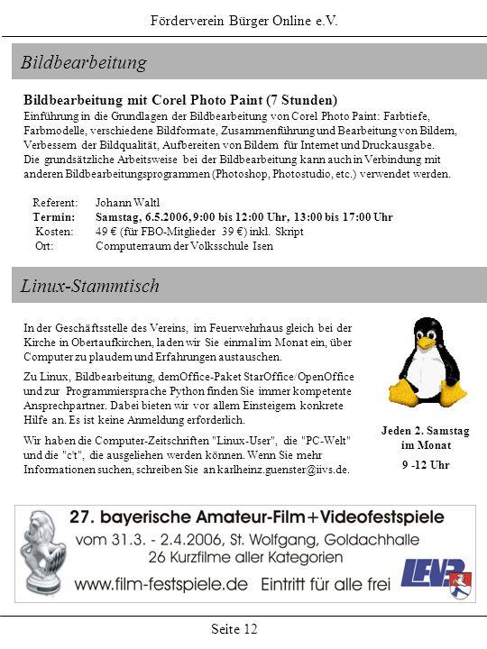 Bildbearbeitung Linux-Stammtisch