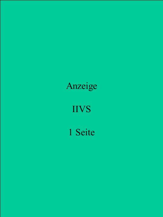 Anzeige IIVS 1 Seite