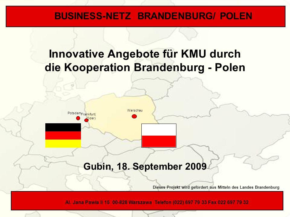 Innovative Angebote für KMU durch die Kooperation Brandenburg - Polen
