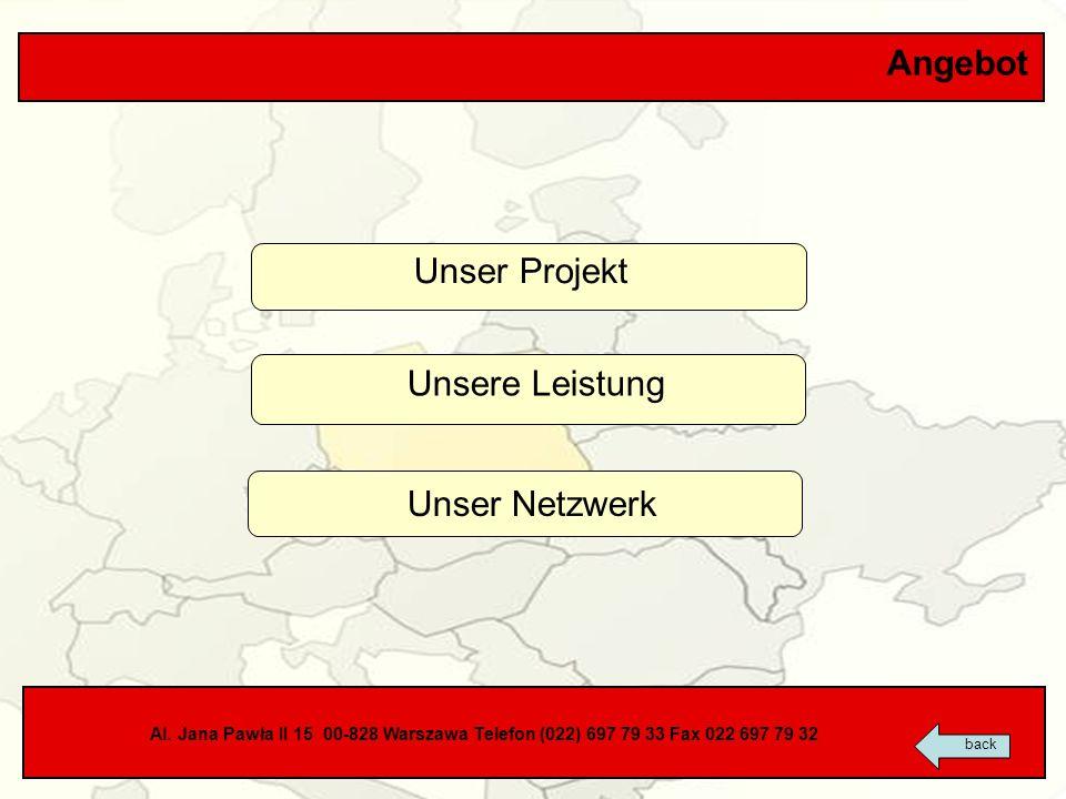 Angebot Unser Projekt Unsere Leistung Unser Netzwerk