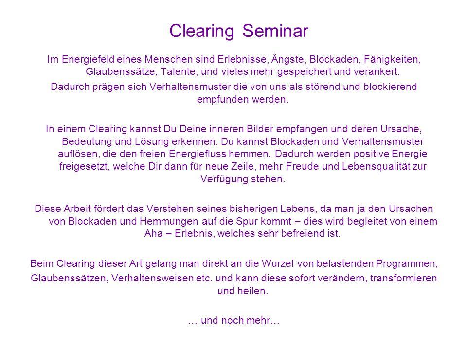 Clearing Seminar