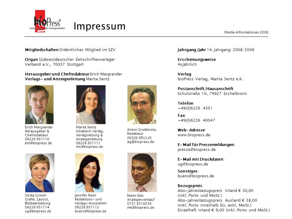 Impressum Impressum ® Mitgliedschaften Ordentliches Mitglied im SZV