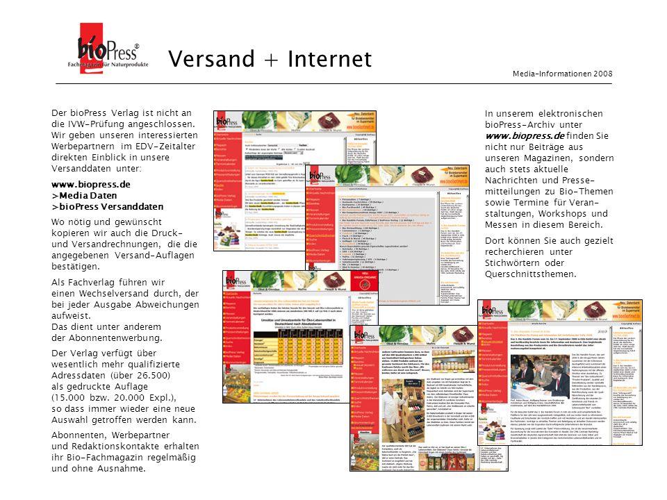 ® Versand + Internet. Media-Informationen 2008.