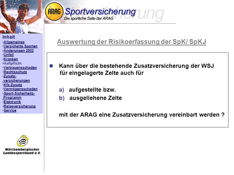 Auswertung der Risikoerfassung der SpK/ SpKJ