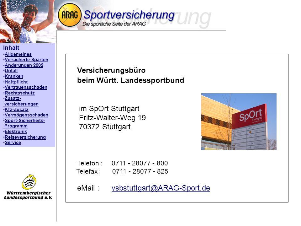 Versicherungsbüro beim Württ. Landessportbund
