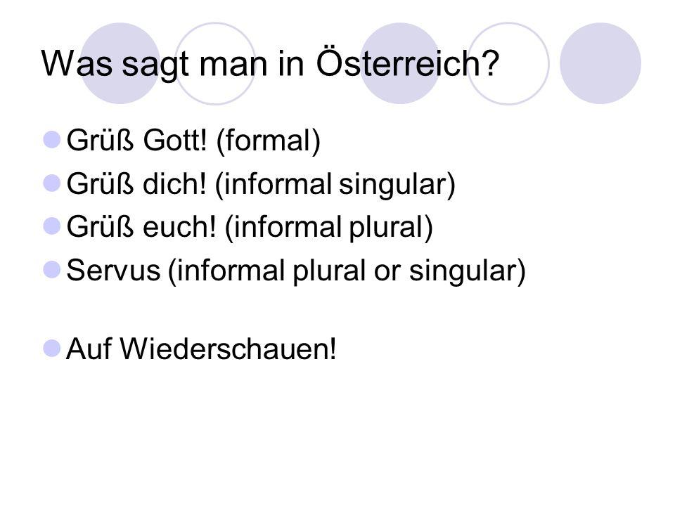 Was sagt man in Österreich