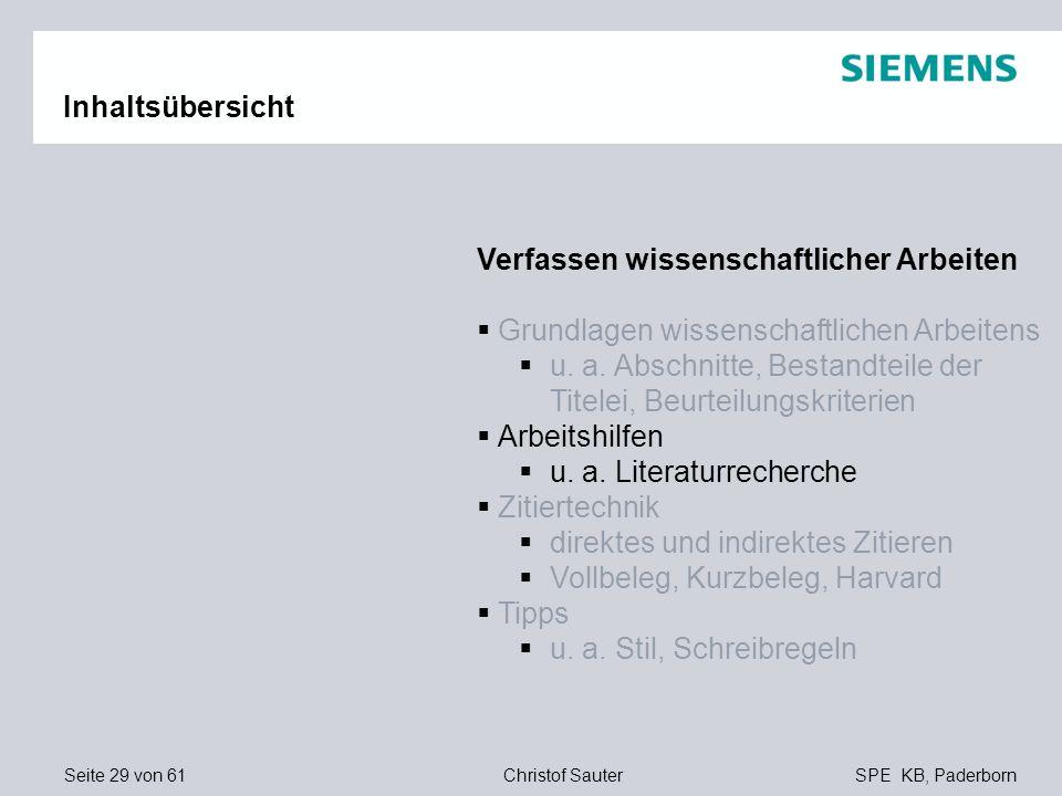 Inhaltsübersicht Verfassen wissenschaftlicher Arbeiten. Grundlagen wissenschaftlichen Arbeitens.