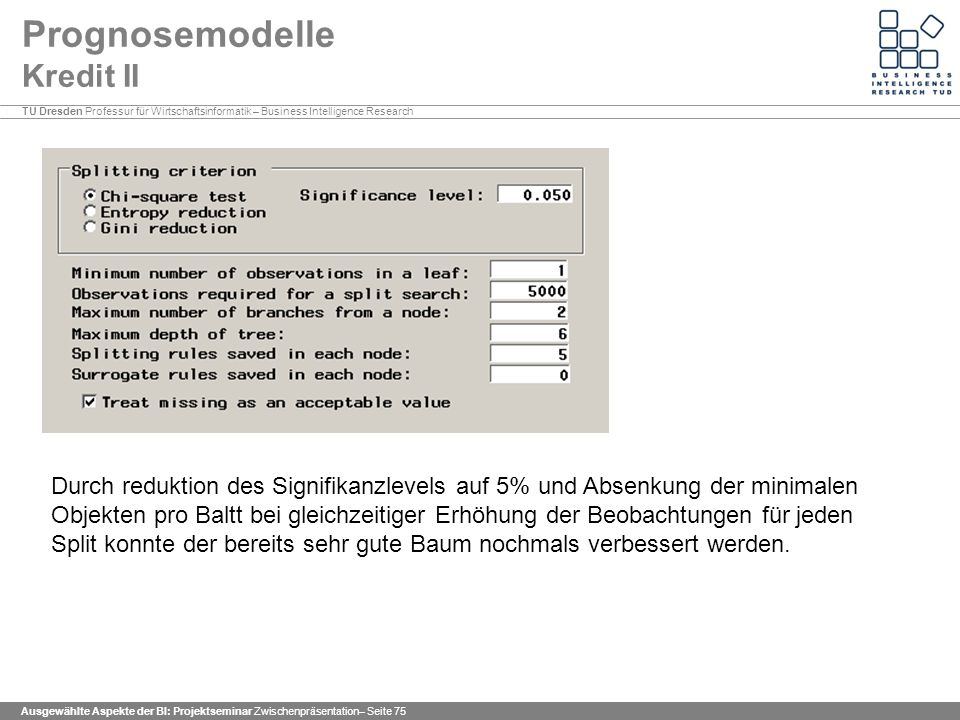 Prognosemodelle Kredit II