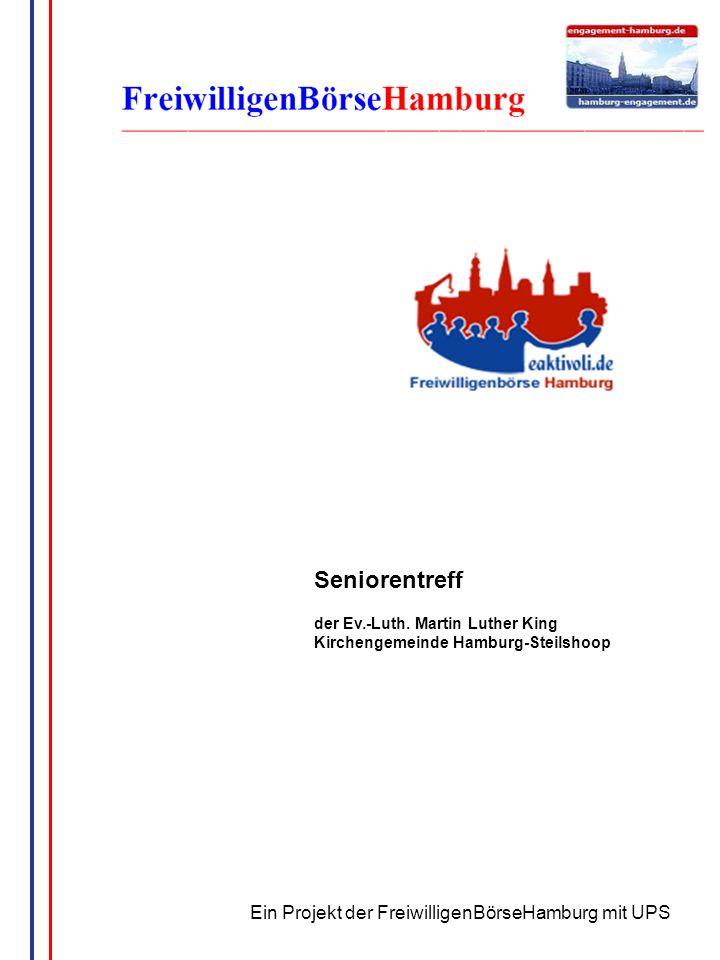 Seniorentreff Ein Projekt der FreiwilligenBörseHamburg mit UPS