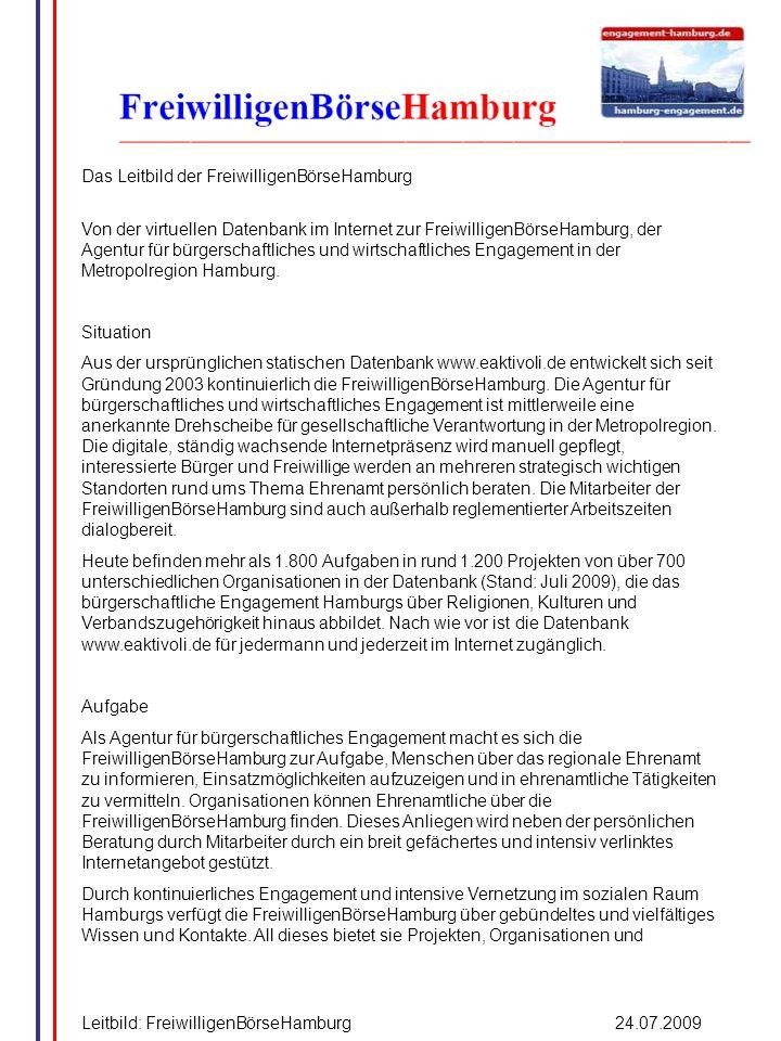 Das Leitbild der FreiwilligenBörseHamburg