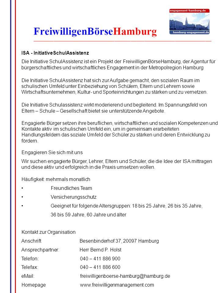 ISA - InitiativeSchulAssistenz