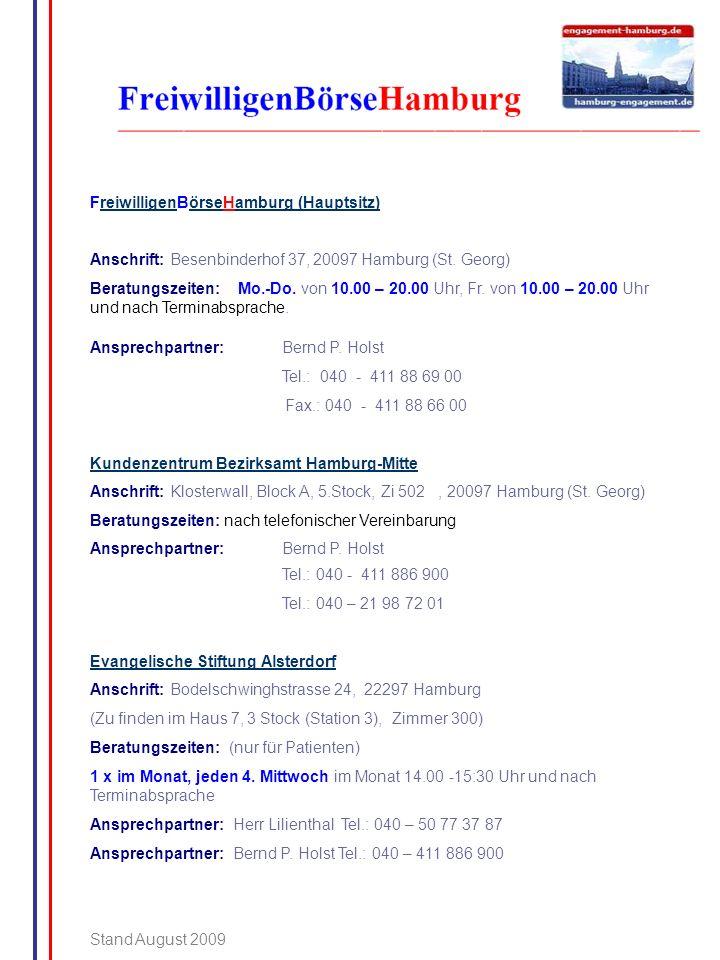 FreiwilligenBörseHamburg (Hauptsitz)