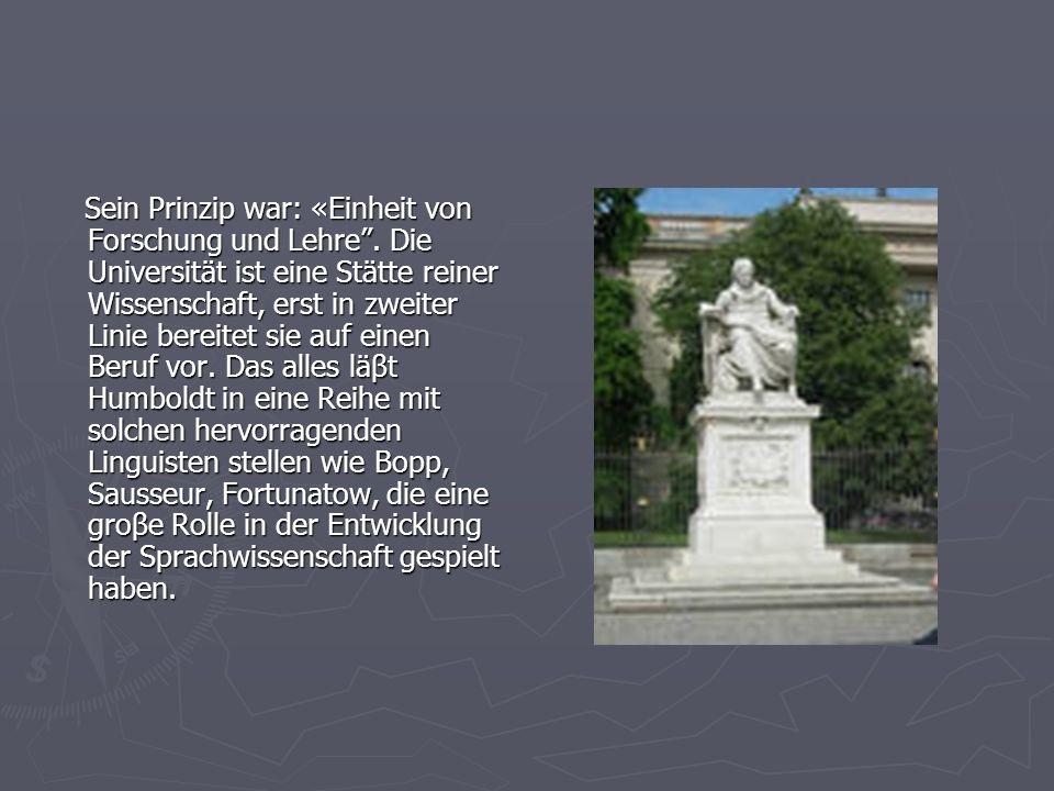 Sein Prinzip war: «Einheit von Forschung und Lehre