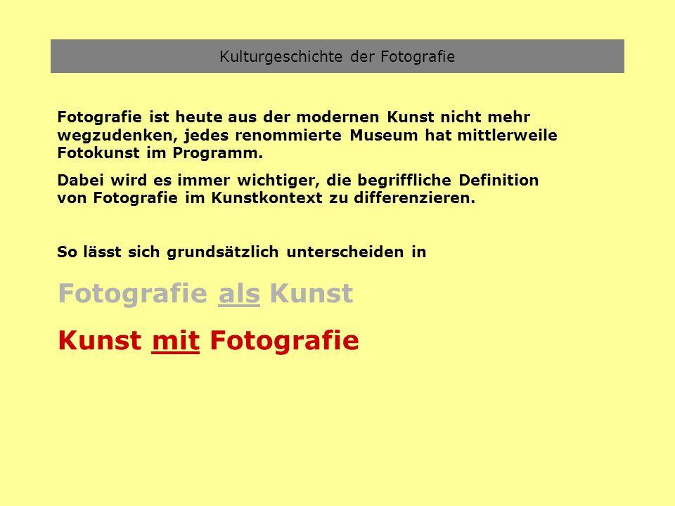 Kulturgeschichte der Fotografie