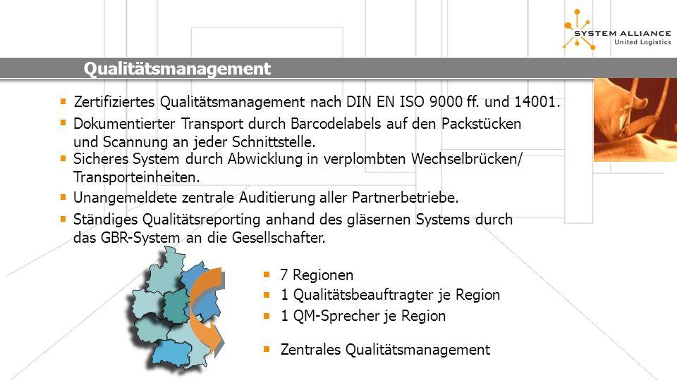 QualitätsmanagementZertifiziertes Qualitätsmanagement nach DIN EN ISO 9000 ff. und 14001.