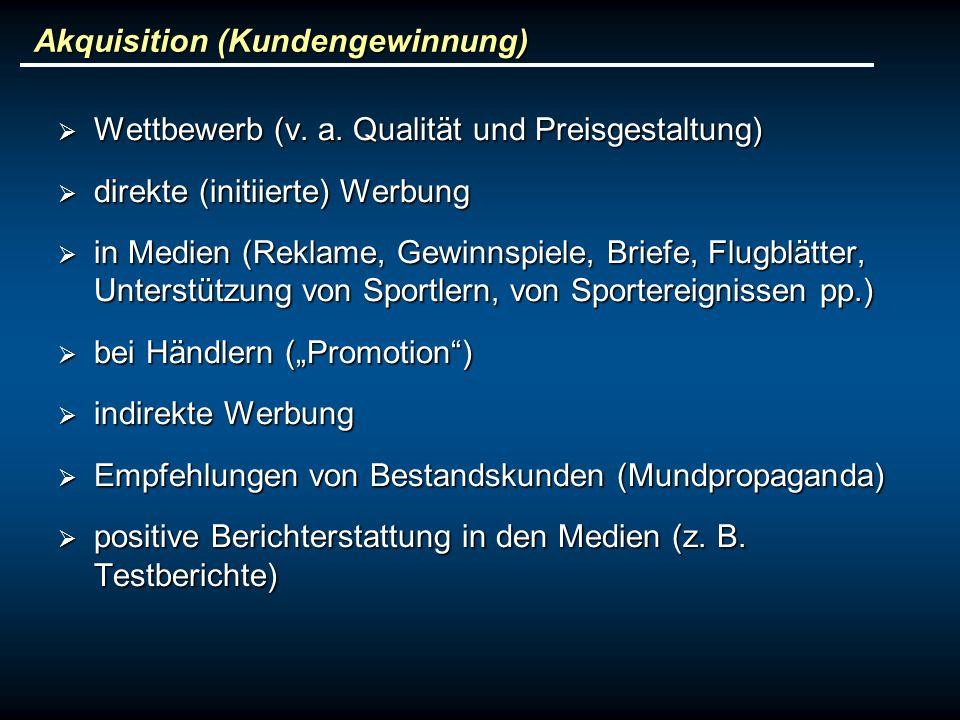 Akquisition (Kundengewinnung)