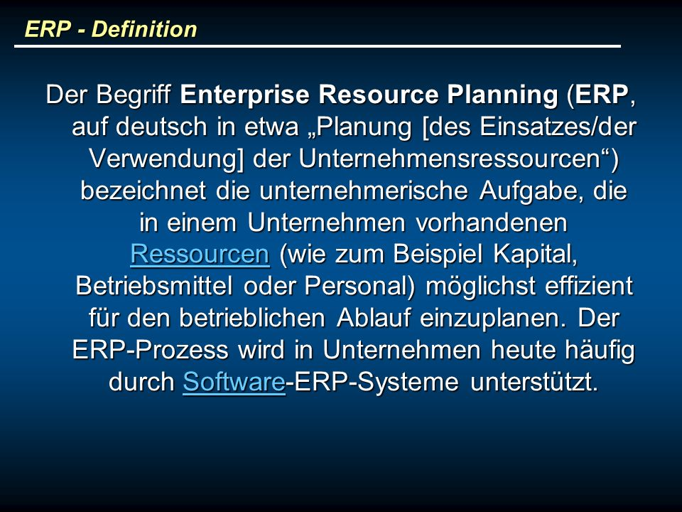 ERP - Definition
