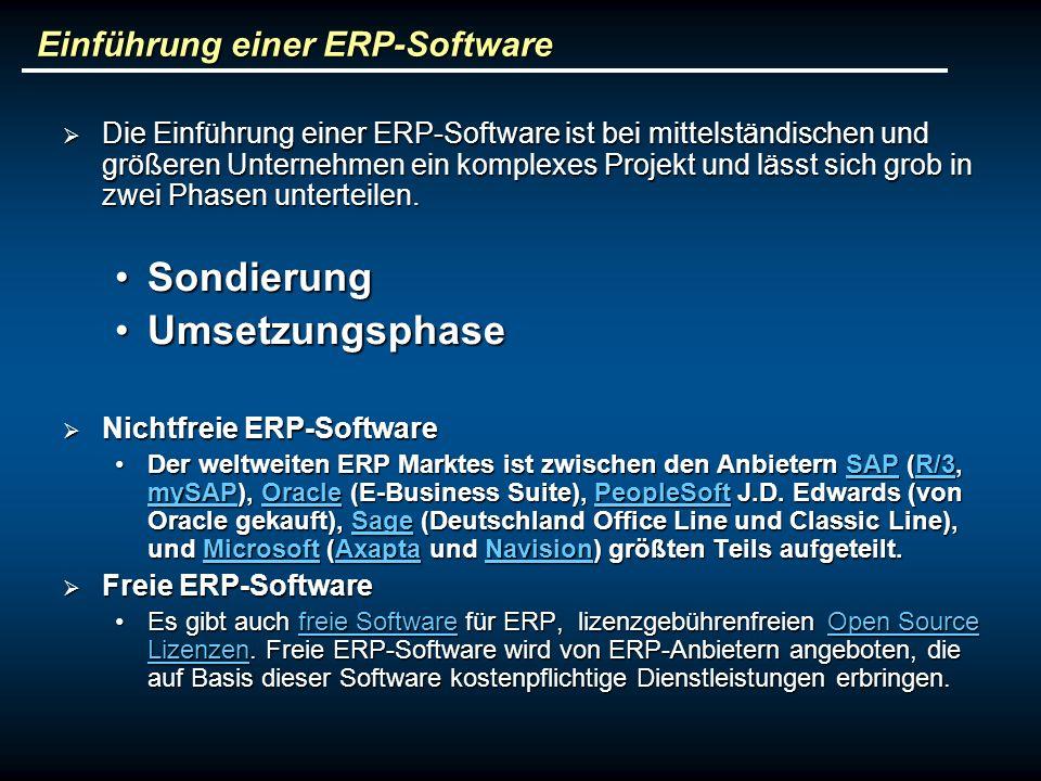 Einführung einer ERP-Software